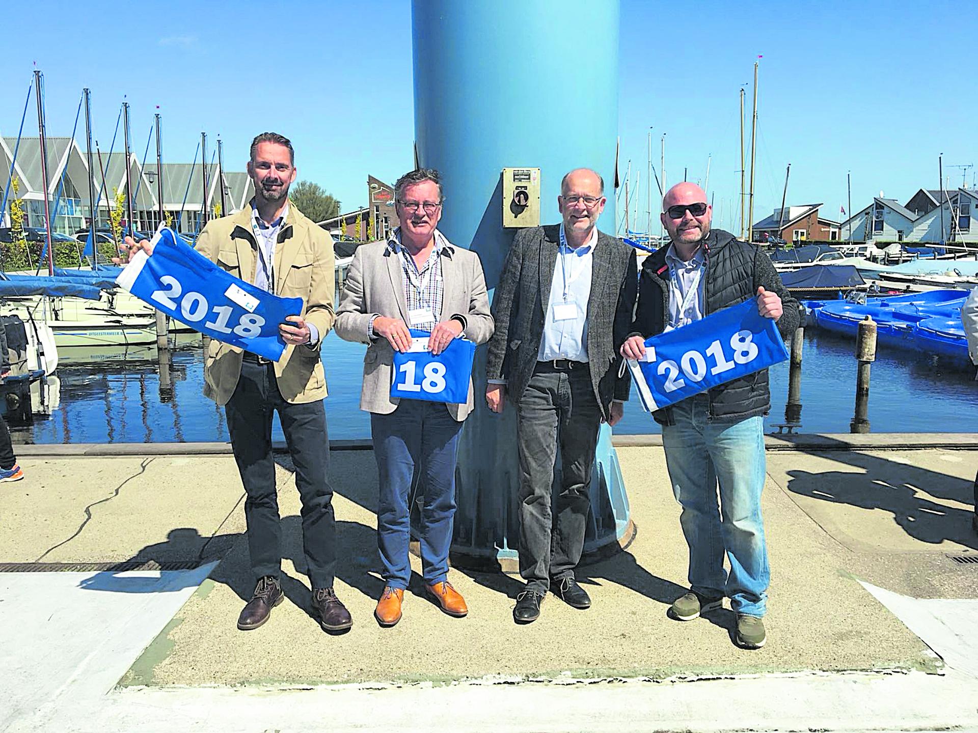blauwe vlag voor jachthavens Aalsmeer