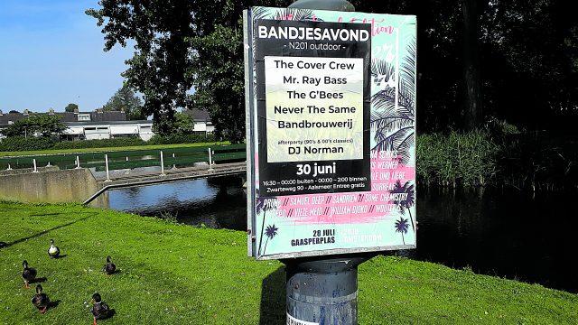 Vergunning voor outdoor Bandjesavond N201