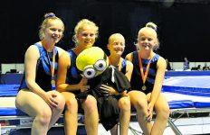 3 Medailles op NK voor trampolinespringers