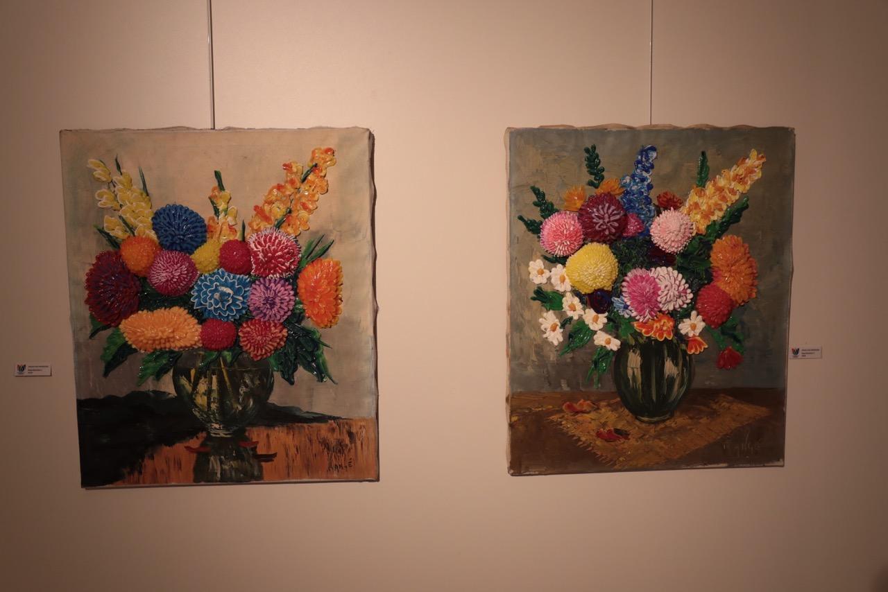 Leren van grootmeesters in Flower Art Museum