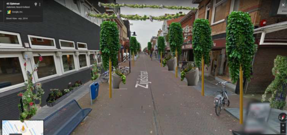Studenten Wellant maken Aalsmeer Centrum groen
